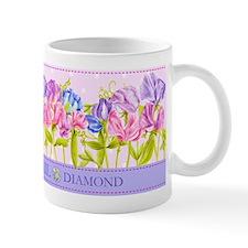 Birth Flowers and Gem Mug April