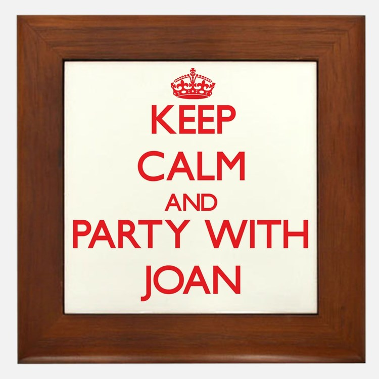 Keep Calm and Party with Joan Framed Tile