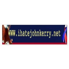I hate John Kerry Bumper Sticker -on sale reg 3.99