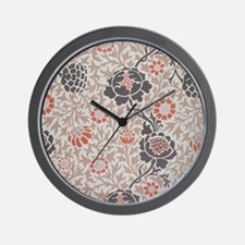 William Morris Grafton Wallpaper Wall Clock