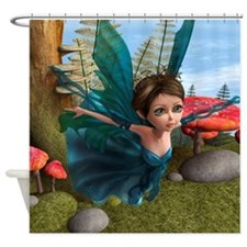 Flying Little Fairy Butterfly Shower Curtain
