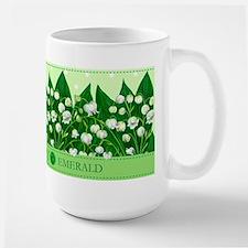 Birth Flower And Gem May Large Mug