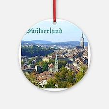 Switzerland Swiss souvenir Ornament (Round)