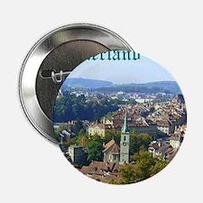 "Switzerland Swiss souvenir 2.25"" Button"