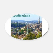 Switzerland Swiss souvenir Oval Car Magnet