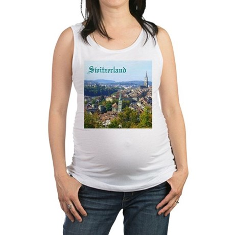 Switzerland Swiss souvenir Maternity Tank Top