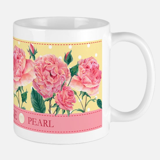 Birth Flowers and Gem Mug June