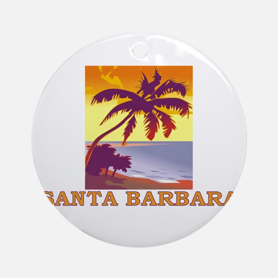 Santa Barbara, California Ornament (Round)