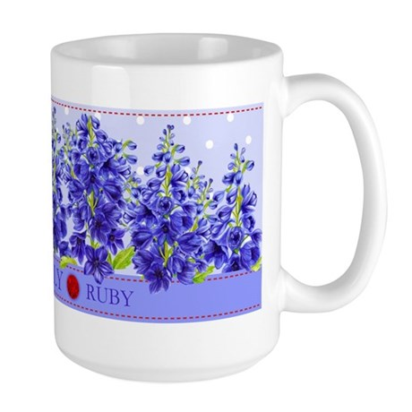 Birth Flower And Gem July Large Mug