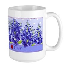Birth Flower And Gem July Mug