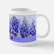 Birth Flowers and Gem Mug July