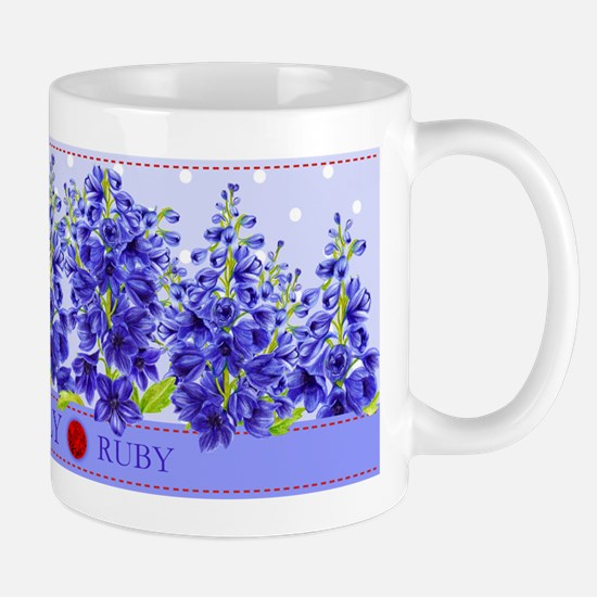 Birth Flowers and Gem Mug July