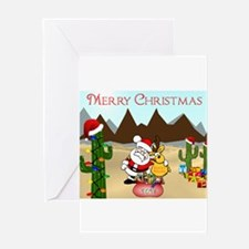 Christmas In The Desert Greeting Cards