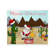Christmas In The Desert Throw Blanket