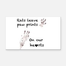 paw prints Rectangle Car Magnet