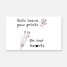 paw prints Rectangle Car Magnet