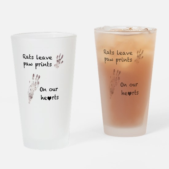 paw prints Drinking Glass