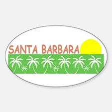 Santa Barbara, California Oval Decal