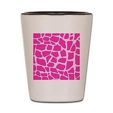 Hot Pink Giraffe pattern Shot Glass
