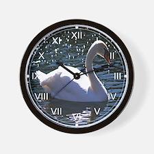 Mute Swan Stardust Wall Clock