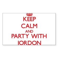 Keep Calm and Party with Jordon Decal