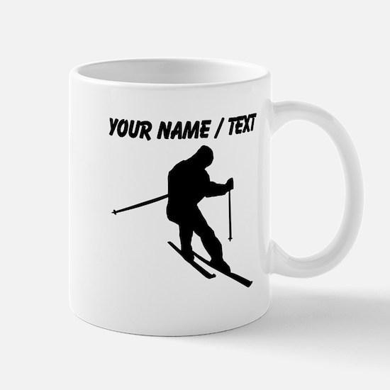 Custom Skier Silhouette Mugs