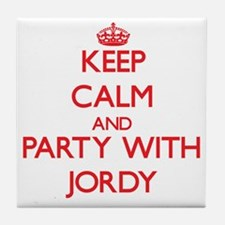 Keep Calm and Party with Jordy Tile Coaster