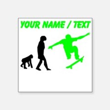 Custom Skateboard Evolution (Green) Sticker