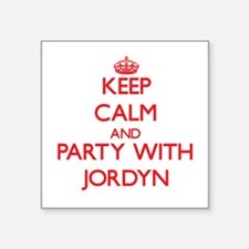 Keep Calm and Party with Jordyn Sticker