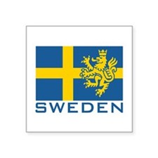 Sweden Flag Rectangle Sticker