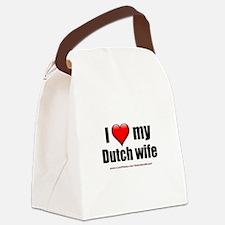 """Love My Dutch Wife"" Canvas Lunch Bag"