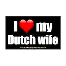 """Love My Dutch Wife"" Wall Decal"