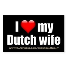 """Love My Dutch Wife"" Decal"