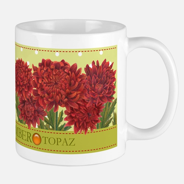 Birth Flowers and Gem Mug November