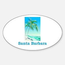 Santa Barbara, California Oval Decal