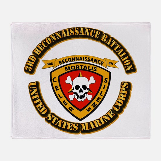 SSI - 3rd Reconnaissance Bn With Text USMC Throw B