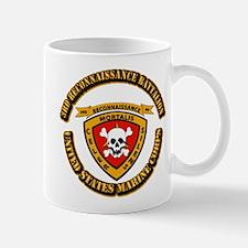 SSI - 3rd Reconnaissance Bn With Text USMC Mug