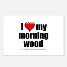 """Love My Morning Wood"" Postcards (Package of 8)"