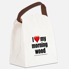 """""""Love My Morning Wood"""" Canvas Lunch Bag"""