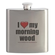 """Love My Morning Wood"" Flask"