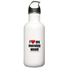 """Love My Morning Wood"" Water Bottle"