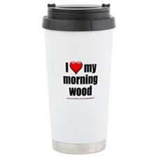 """Love My Morning Wood"" Travel Mug"