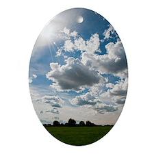 Landscape Oval Ornament