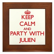 Keep Calm and Party with Julien Framed Tile