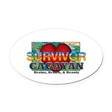 Survivor Cagayan Oval Car Magnet