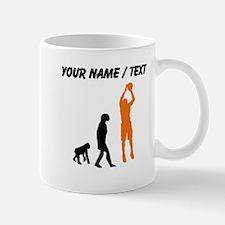 Custom Basketball Jump Shot Evolution (Orange) Mug