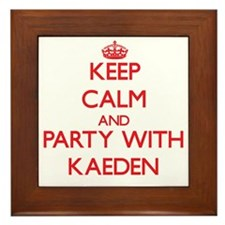 Keep Calm and Party with Kaeden Framed Tile