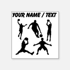 Custom Basketball Silhouettes Sticker
