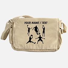 Custom Basketball Silhouettes Messenger Bag