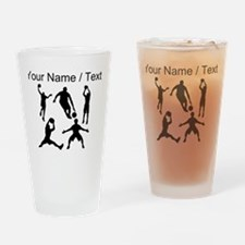 Custom Basketball Silhouettes Drinking Glass